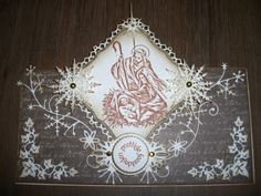 kerstkaart met stempel en mallen van Joy, Spellbinders, Memorybox en Marianne Design.