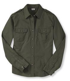 Cotton Poplin Field Shirt, Long-Sleeve: Active   Free Shipping at L.L.Bean