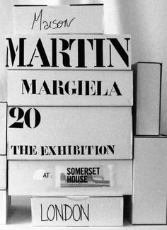 See the latest Maison Martin Margiela products and photos. Browse and shop Maison Martin Margiela and other celebrity fashion brands on Coolspotters. Typography Letters, Typography Design, Brand Packaging, Packaging Design, Exhibition, Blog, Fashion Branding, Graphic Design Inspiration, Identity Design
