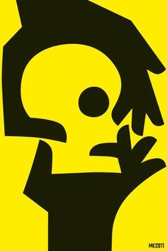 positive and negative space Art And Illustration, Graphic Design Illustration, Illustrations Posters, Graphic Art, Negative Space Art, Positive And Negative, Street Art, Kunst Poster, Mellow Yellow