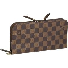 Louis Vuitton Damier Ebene Insolite Wallet a nice one . but not a fav. Louis Vuitton Damier, Louis Vuitton Wallet, Louis Vuitton Handbags, Street Style Store, College Girl Fashion, Latest Makeup Trends, Fashion Heels, Fashion Top, Womens Fashion
