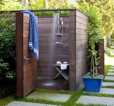outside shower  By the Sea: Hamptons Home