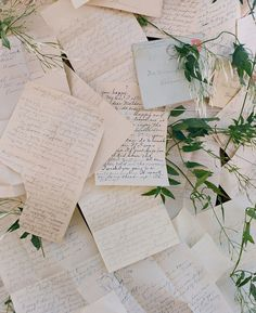 A cute idea for something blue {if you're writing your own vows, consider composing them on blue paper or using blue ink. Along with serving as your 'something blue,' having a handwritten love note is a lot more romantic than a typed up version}