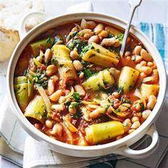 Spicy leek and white bean stew Recipe | delicious. Magazine free recipes