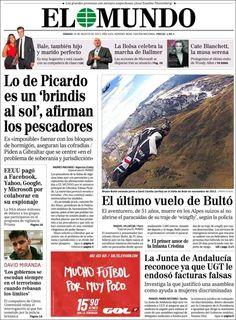 Los Titulares y Portadas de Noticias Destacadas Españolas del 24 de Agosto de 2013 del Diario El Mundo ¿Que le pareció esta Portada de este Diario Español?