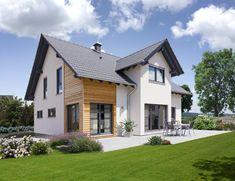Fingerhut Haus – Solera - All About Balcony House Roof, Facade House, Living Haus, Self Build Houses, Mountain House Plans, Modern Farmhouse Exterior, Exterior Remodel, Home Fashion, Exterior Design