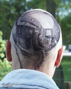 Escher Head by Ranger Rick - freaking trippy!!!!!!
