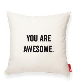 YOU ARE AWESOME Muslin Decorative Pillow