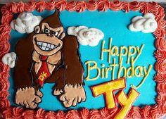 Donkey Kong cake - royal icing