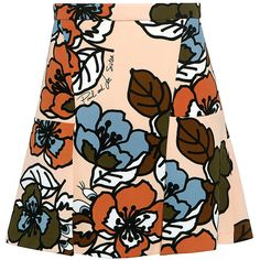 Paul & Joe Sister - Flowered Printed Margot Mini Skirt ($95) ❤ liked on Polyvore featuring skirts, mini skirts, bottoms, floral, panel skirt, floral skirt, short floral skirt, summer mini skirts and short skirts