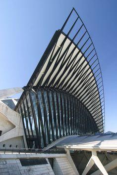 Architecture by me: Gare de Saint-Exupéry TGV, Santiago Calatrava | Lyon-Saint Exupéry | France #architecture ☮k☮