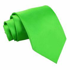 Apple Green Plain Satin Tie