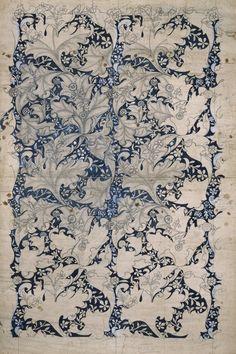 "artmastered: "" William Morris, n.d, Wallflower (wallpaper design) """