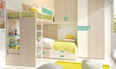 La distribución de los muebles, clave fundamental de un buen dormitorio infantil para dos