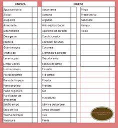 Organize sem Frescuras | Rafaela Oliveira » Arquivos » Lista de Compras de Supermercado para imprimir
