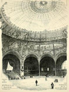 archimaps:   Inside the Salle des Fêtes of the Exposition Universelle of 1900, Paris