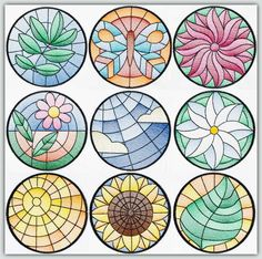 BFC-Creations  Use in quilts, table runners and mats. They would also be an interesting addition to Fred's other Stained Glass sets to make a fantastic quilt. Stained Glass Floral Squares, Stained Glass Floral Squares II, and Stained Glass Squares-Birds and Butterflies.