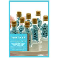 Gartner Studios Jars With Cork Stoppers - Wedding Favors