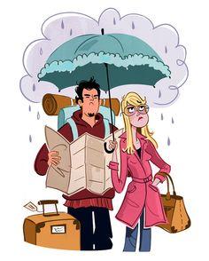 Rain on a Trip - Genevieve Kote-para hablar del tiempo/clima