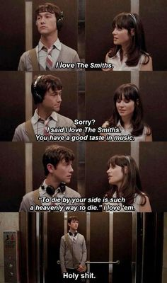 500 Days of Summer. I finally got to watch it!! and it's safe to say that it's my favorite!!! (: