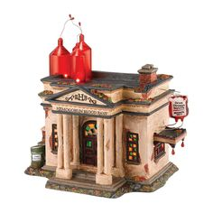 Department 56 Snow Village Halloween Hemogoblin Blood Bank Lit House