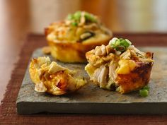 """""""Impossibly Easy Mini Thai Chicken Pies""""... looks delish! May need to add that to the Super Bowl menu!"""