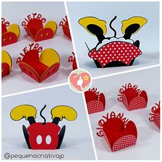 Festa Mickey - Festa Minnie - Festa Mickey e Minnie - Decoração Mickey - Decoração Minnie - Forminha Mickey - Forminha Minnie Mickey E Minnie Mouse, Mickey Party, Minnie Boutique, Disney Cards, Mickey Mouse Birthday, Mouse Parties, Party Time, Birthday Parties, Paper Crafts