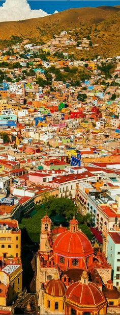"Guanajuato, México. The oldest known name for the area is ""Mo-o-ti,"" which means ""place of metals."" Very creative and colorful."