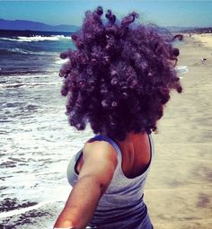 Purple crown. To learn how to grow your hair longer click here - http://blackhair.cc/1jSY2ux