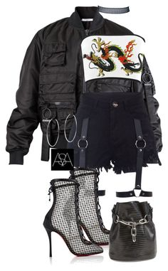 """""""Untitled #441"""" by ana-astylist ❤ liked on Polyvore featuring Givenchy, Christian Louboutin, Alexander Wang and Michael Kors"""