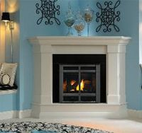 Exact Gas - Gas Fireplace  wxhxd = 577 x 825 x 414 heat output = 4.3kw heating capacity = 65m²