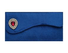 Velvet Wedding Envelope with Brooch in Royal Blue... #envelopes #Sevenpromises