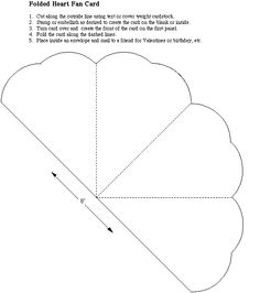 Folded heart fan...could be cut into separate section instead of folded. Templates Printable Free, Card Templates, Printables, Crafts To Make, Diy Crafts, Hand Fans For Wedding, Diy Fan, Free Stencils, Lace Wedding Invitations