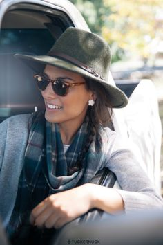 Barbour Fedora Hat and Fornash Chloe Earrings  Tuckernuck Mid Fall Catalog 2014