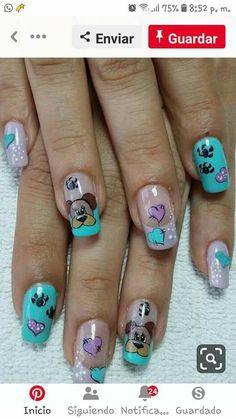 New fails art 2019 french Ideas Animal Nail Designs, Nail Polish Designs, Cute Nail Designs, Cute Nail Art, Cute Acrylic Nails, Beautiful Nail Art, Fancy Nails, Pretty Nails, Ruby Nails
