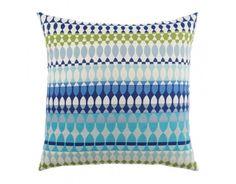 "Elaine Smith 20"" designer throw pillow - Modern Oval Ocean $99"