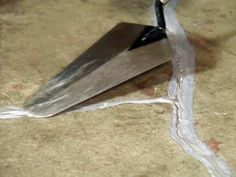repairing cracks in concrete floor