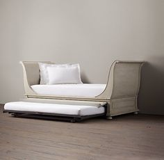 Restoration Hardware sleighbed...not sure what color this is