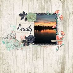 Sunset digital scrapbook page layout using Everyday Beautiful by River~Rose, found at The Sweet Shoppe.