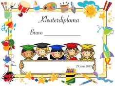 Kleuterdiploma Classroom Decor, Decoupage, Crafts For Kids, Doodles, Teacher, Shapes, Party, Pictures, Flashcard