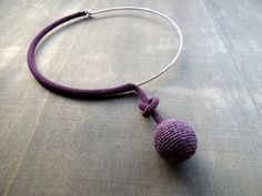 Purple knotted crochet