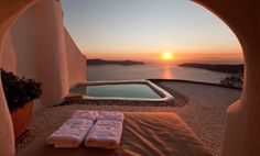 Santorini ☀️ Check out 👉 for luxury travel inspiration! Via: - Photo:©Kapari Natural Resort Oh The Places You'll Go, Places To Travel, Places To Visit, Travel Destinations, Luxury Boat, Luxury Travel, Dubai Travel, Jeddah, Interior Design Companies