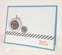Thanks Big Time, Timeless Talk Clear Stamp Set, Stampin' Up! Maggie Mata - just like the simplicity of this.