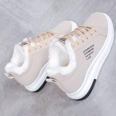 NAUSK 2019 Winter Women Shoes Warm Fur Plush Lady Casual Shoes Lace Up Fashion Sneakers Zapatillas Mujer Platform Snow Boots Sneakers Mode, Sneakers Fashion, Fashion Shoes, Shoes Sneakers, Women's Shoes, Shoes Cool, Footwear Shoes, Girls Sneakers, Shoes Style