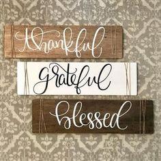 Grateful thankful blessed sign grateful thankful blessed thankful grateful blessed sign thankful grateful blessed thankful and blessed DIY Wood Signs Blessed grateful Sign Thankful
