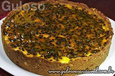 Cheesecake de Maracujá Light » Receitas Saudáveis, Tortas e Bolos » Guloso e Saudável