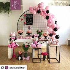 Launching in style our Minnie Mini Table Loom Panel for the 2 years of Manu . Minnie Mouse Cupcake Toppers, Minnie Mouse Theme Party, Mouse Parties, Balloon Decorations, Birthday Party Decorations, Birthday Parties, Wedding Decorations, Diy Christmas Gifts For Family, Christmas Decorations To Make