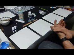 Test des différents drawing gum avec différentes techniques : Aquarelle, encre, gouache et acrylique.