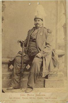 Colonel Ruth Goshen Goshon big man Barnum circus giant antique cabinet photo