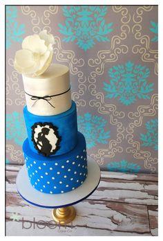 Magnolia, silhouette babyshower cake @bloomcakeco